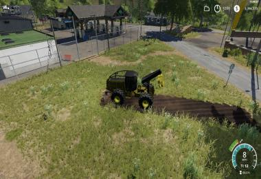 John Deere construction yellow skidder v1.0