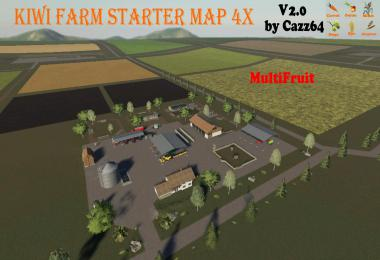 KIWI FARM STARTER MAP 4X MULTI FRUIT (Patch update 1.3) v2.0