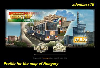 Profile for map of Hungary v1.0