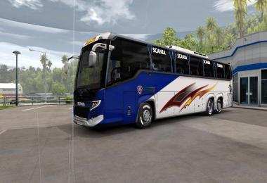 Scania Touring Bus 2019 Official Skin 1.32 and 1.33 v3.0