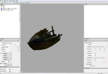 Small boat wreckage prefab v1.0