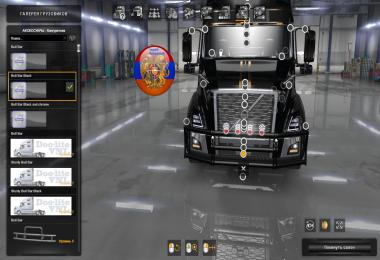 Volvo vnl 2018 Truck Three new frontgrill 1.34.x