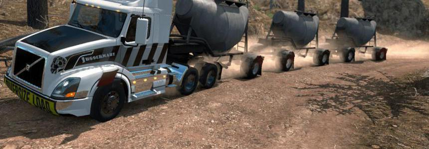 Triple Cement Trailer MP-SP TruckersMP Multiplayer 1.34.x