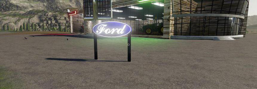 FS19 Ford Sign v1.0