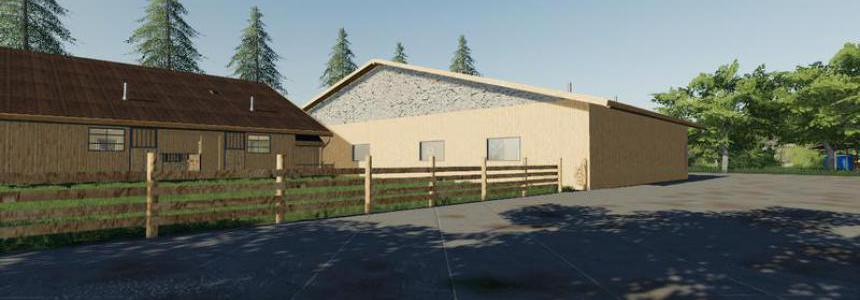 Horse stable with riding hall v1.0