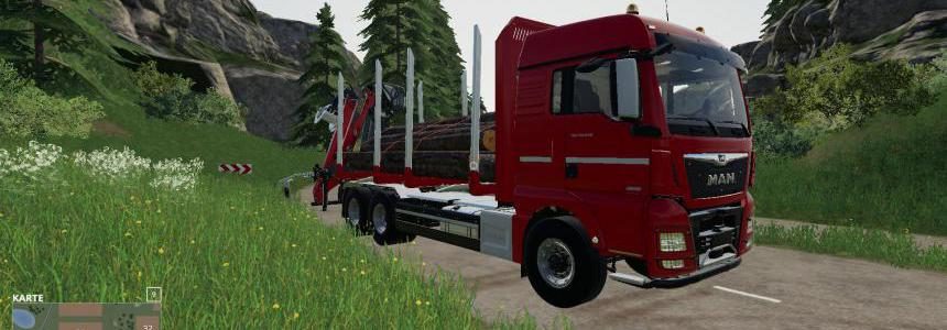 MAN Forst LKW with Autoload Wood v3.0