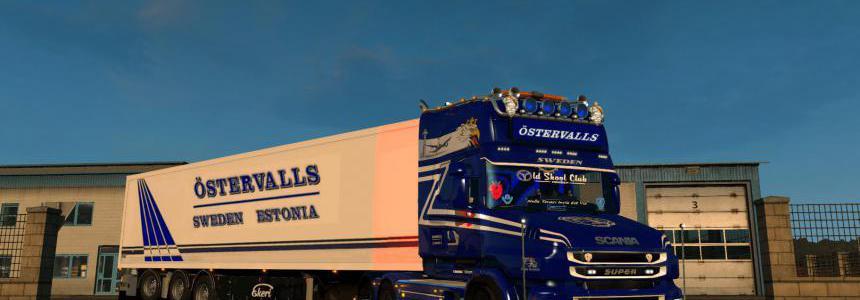 Scania T Ostervalls skin + lightbox 1.34