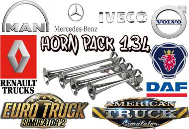 Horn Pack for ETS2 1.34.x