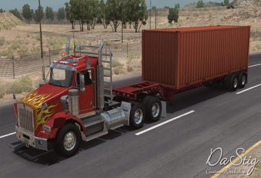 Kenworth T800 in traffic ATS 1.34