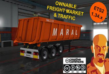 MARAL TIPPER TRAILER REWORKED ETS2 1.34.x
