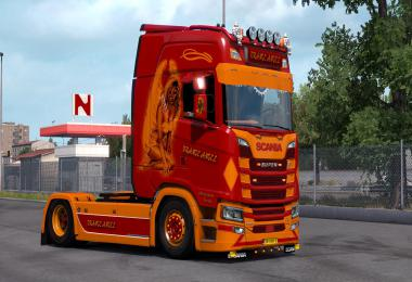 Scania S Next Gen Orange Angel Skin v1.0 1.34.x