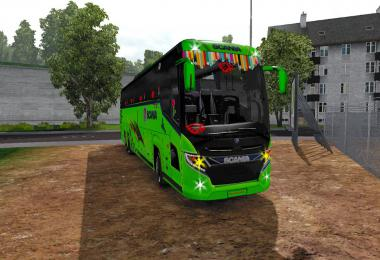 Scania touring green 2019 next edition + skin driving City Way 1.34