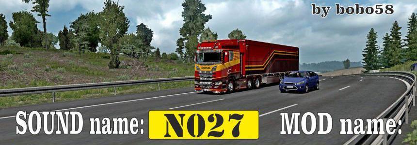 Sound mod for engine in trucks ETS2 1.34.x