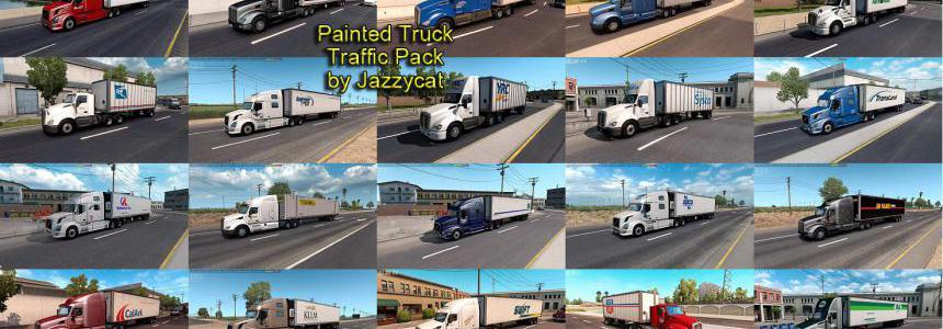 Painted Truck Traffic Pack by Jazzycat v2.0