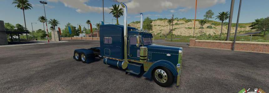 FS19 Peterbilt 379 Blue Red Green v1.0