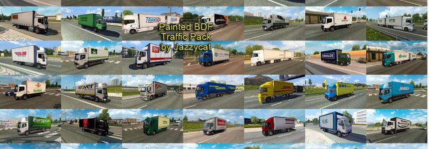 Painted BDF Traffic Pack by Jazzycat v5.5