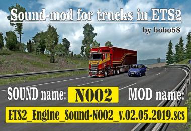Sound mod for engine ETS2 1.34.x
