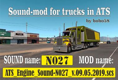Sound mod for engine in trucks ATS 1.34.x
