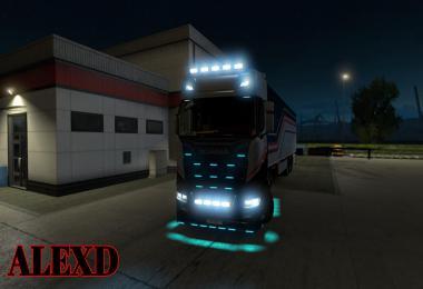 ALEXD FLARE AND 10.000 K LIGHTS FOR ALL TRUCKS v1.1