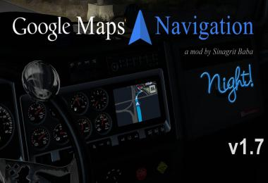 ATS - Google Maps Navigation Night Version v1.7