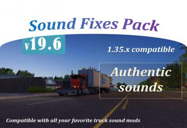 ATS Sound Fixes Pack v19.6 ATS 1.35