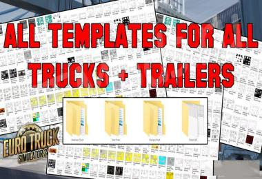 Complete pack of truck & trailer templates 1.35