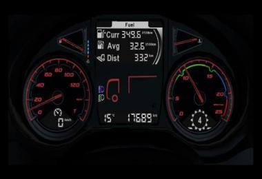 DAF XF Euro 6 dashboard 1.35