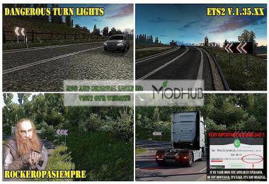 Dangerous Turn Lights ETS2 1.35.x
