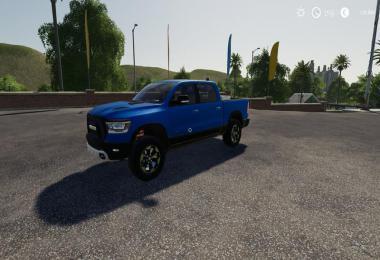 Dodge Ram 1500 blue flashing beacon v1.0