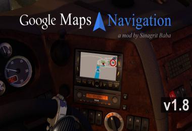 ETS 2 - Google Maps Navigation v1.8
