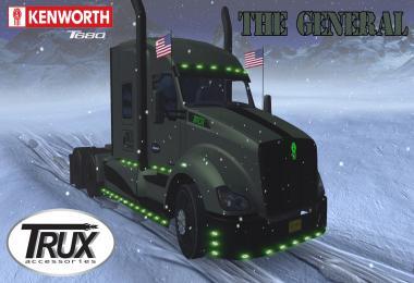 Kenworth T680 The General v1.3 for ETS2 1.34.x