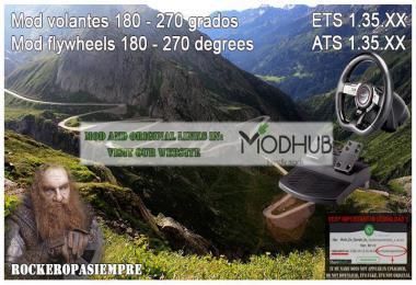 Mod for Steering Wheel of 180-270 Degrees for ETS2 1.35.x