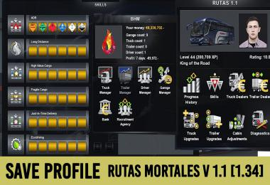 Save Game (Profile) for Map Rutas Mortales v1.1
