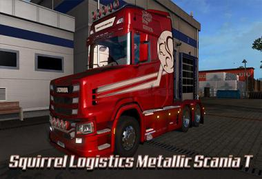 Squirrel Logistics Metallic skin Scania T v1.0