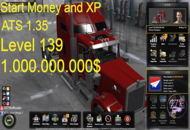 Start Money and XP for ATS 1.35