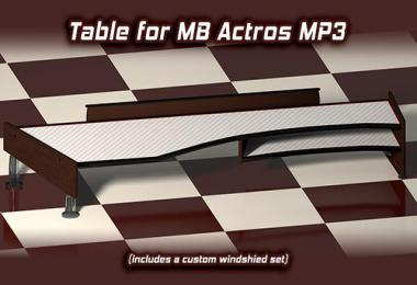 Table & wind-shield set for Actros MP3 v1.11