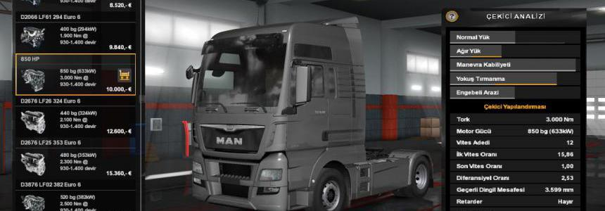 850 HP For All Truck 1.35.x
