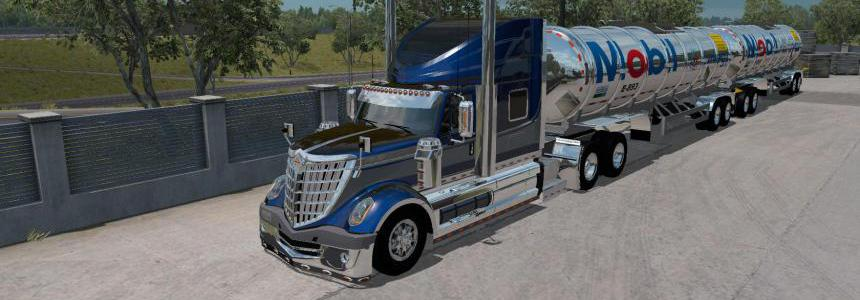 Gasero Gas trailers for ATS 1.35 by Cerritos & Husky_358 v1.0