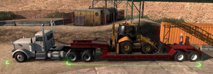 Low boy semi-trailer in ownership v1.0 1.35.x