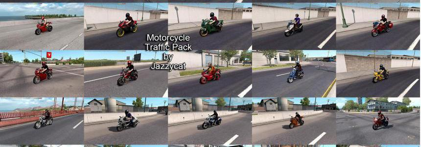 Motorcycle Traffic Pack (ATS) by Jazzycat v3.1