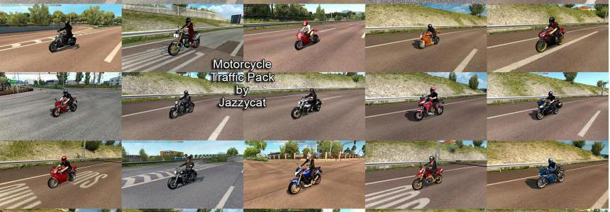 Motorcycle Traffic Pack by Jazzycat v3.1