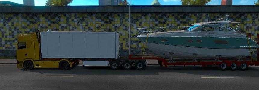 Low Bed Trailer Boat Mod For Multiplayer v1.0