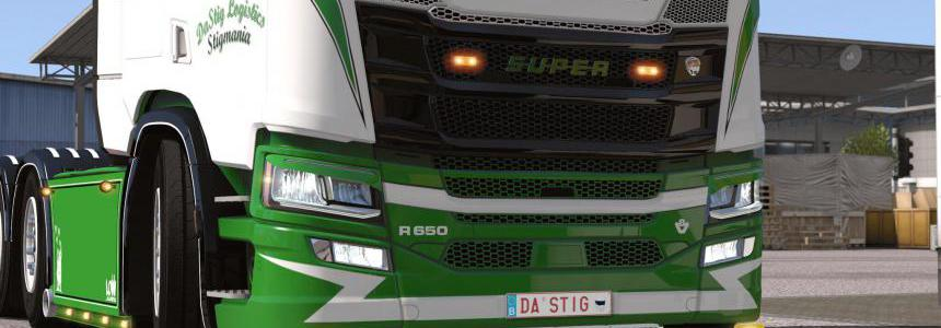 Painted Engine Badges for Scania Next Gen v1.0