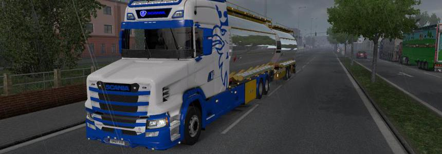 Tandem Truck Pack Comp. Mod For Scania New Gen Tcab 1.35.x