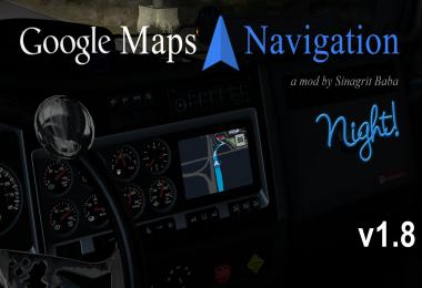 ATS - Google Maps Navigation Night Version v1.8
