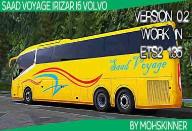 Irizar i6 - Skin Saad Voyage - ETS2 1.34 & 1.35