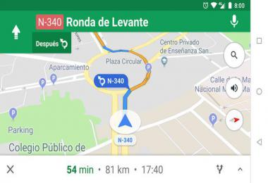 Navigation Voice of Google Maps in Spanish (Latin) 1.35.x