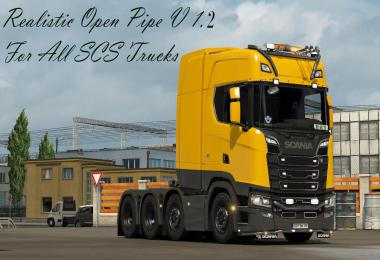 Realistic Open Pipe v1.2 For All SCS Trucks