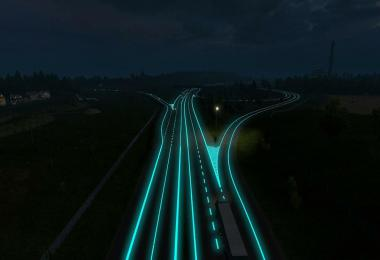 Roadways Luminous for all Versions ATS & ETS2 v1.2