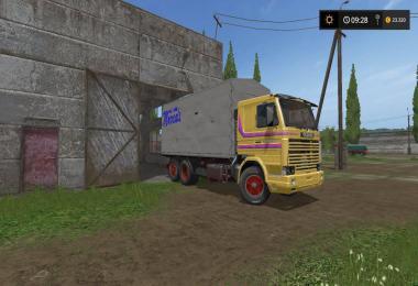 Scania 142h cassone fisso centinata v1.0